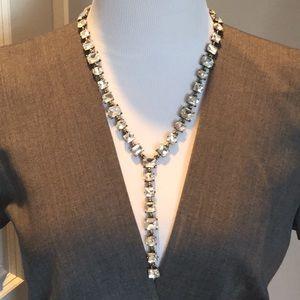 Baublebar Y shaped Faceted Gem Necklace